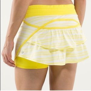 Lululemon skirt yellow striped